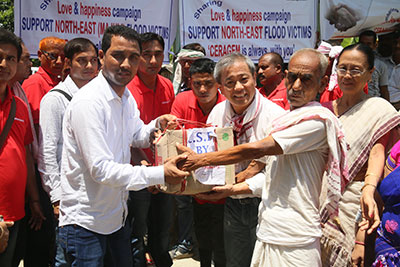 CSR activity for flood victims in Assam